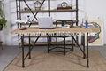 un semplice scrivania industriale mobili in metallo