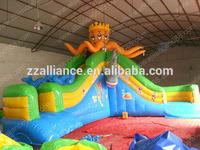 2014 HOT SALE inflatable pool slide equipment octopus inflatable water slide