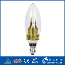Werun Competitive price led candle light e12 0.5w