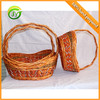 Inexpensive Woven Wooden Fruit/Vegetable Basket with Handle