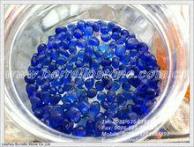 Unique shape blue glass bead