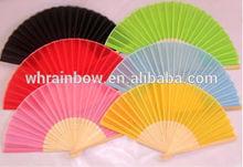 Elegant silk hand fan party favors