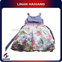 Printed puffy flower girl dress toddler