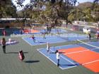 Badminton sport court flooring
