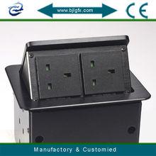 Hidden Tabletop intelligent power socket pop up socket uk(UK201-3.)