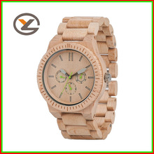 luxury natural color wood grain unisex gift wood watch winder