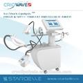Profesional de la electrólisis máquinas con vacío cryolipolysis pérdida de grasa y de ondas de choque celulitis pérdida de