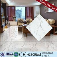 High quality chinese porcelain tiles 600x600 foshan hanse green color polished marble premium porcelain tile