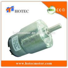low noise 37mm gear box 6mm shaft low torque generator 12v dc