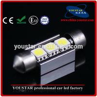 Festoon 36mm 3 SMD 5050 LED White Light Decoding Car Dome Reading Lamp
