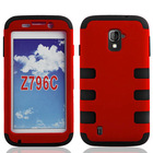 2014 new design mobile phone case pc silicone combo case for ZTE Z796C [ free screen protector ]