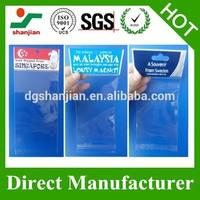 Packing with custom printing plastic resealable header self-adhesive opp bag