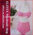2014 grosso acolchoado rosa sexy girl cintura alta micro biquini para mulheres maduras