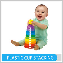 Hot Sale Plastic Multicolored Speed Stacking Cups Game Plastic Cup Stacking