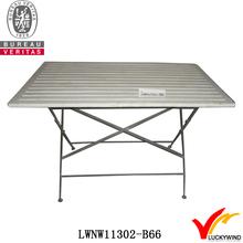 square wood slab vintage foldable dining table