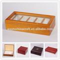 De gama alta de té de madera, joya, música caja de regalo, reloj de madera cajas de titular