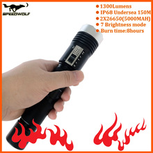 waterproof torch Latest LED searching flash light and underwater diving torchlight led torch light manufacturers