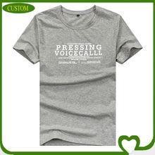 OEM factory 2014 new fashion gray t-shirt