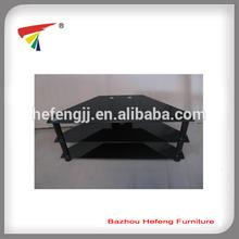 Black glass furniture TV stand modern design