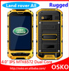2014 High quality waterproof android smartphone,MTK6572 Dual core phone rugged, rugged phone land rover a8