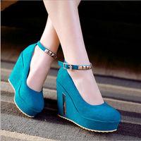 D91730T new design fashion european high heel wedges women shoes