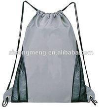 2014 Hot Selling Sport Mesh Drawstring Bag, Large drawstring top opening