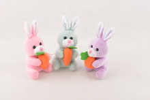 plush mini bunny with carrot