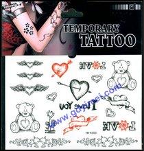 Custom Body Sticker Temporary Santa Tattoo