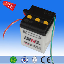 Dry charged 6v 4ah chinese motocross motorcycles battery Made in china in pp marterial 6v lead acid rechargeable battery