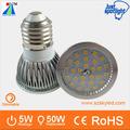 lumen 2835 5w dimmerabile led smd riflettori 24v dc e27 lampade a led