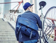 Fashionable blue Jeans bike bag strap shoulder playboy bags