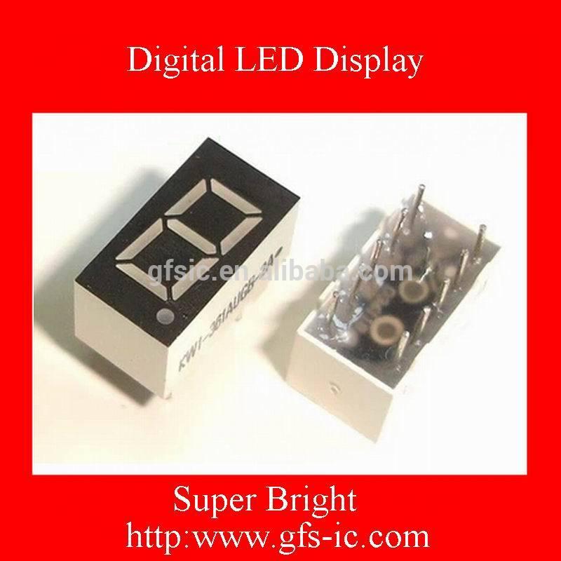 LED(0.36 Inch) Single digits 7 segment Digital LED Display Red COMMON Cathode