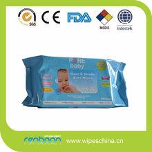 Private label alcohol free vitamin aloe all natural happy baby wipe