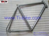 2015 new style!!! China Disk brake or V brake titanium triathlon bike frame Titanium triathlon time trial bike frame