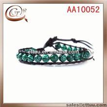 fashion malachite stones wrap bracelet