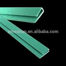 Typed dark green colored PVC kitchen cabinet shelf edge strip