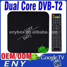 dvb-t2 android 4.2 tv box Amlogic-8726 Mx Dual Core 1.5GHZ Mali-400 1GB/8GB