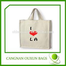 custom high quality eco custom cotton coated pvc shopping bag