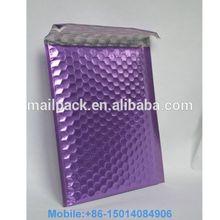 Wholesale Metallic Bubble Mailer Metallic Bubble Envelope Purple Air Bag for Packing