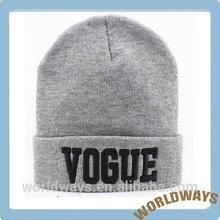 HC-003 Cheap Price Grey Woollen Hat Advertising Hat