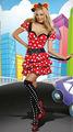 Minnie mickey mouse costume delle donne costume di halloween