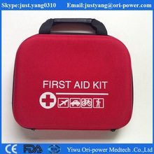 CE,FDA,ISO approved car outdoor emergency sport medical red EVA custom first-aid kit bag