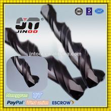 JINOO 2 flute HRC50 tungsten carbide drill deep hole drilling