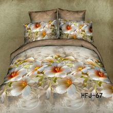 Wholesale 3D printing bedsheet 100% polyester comforter set