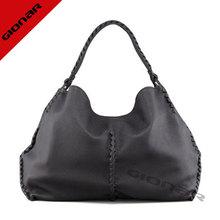 2014 famous brand flat black maroon italian leather women's bag