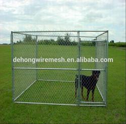 Galvanized chain link breeding dog cage/dog kennel for sale