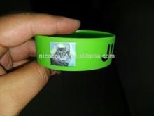 custom printed logo silicone / rubber/ soft PVC wrist band /bracelet /arm band for decoration