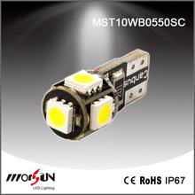 T10 5smd w5w 5050 CANBUS led auto bulb,Error free auto led