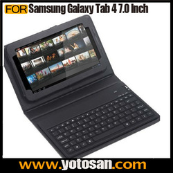 Silicon PU Leather Keyboard Case for Samsung Galaxy Tab 4 7.0