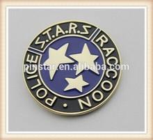 2014 New Custom Metal Resident Evil Stars S.T.A.R.S. Raccoon Round Soft Enamel Lapel Pin